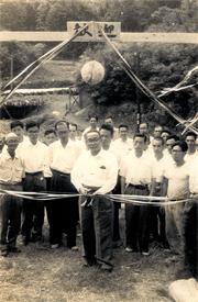昭和39年 岡崎市長を招いて幸果園で開園式